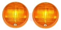 Paar Gläser/Kappen Blinker vorne orange