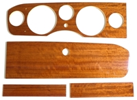 Dash Panel Wood Set 5 Instruments - 4 Pieces