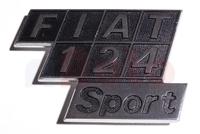 Schriftzug Fiat 124 Sport
